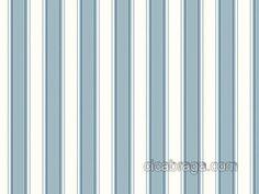 Cica Braga Papel de parede Papel de Parede Vinílico Ashford Stripes (Americano) - Listras (Tons do Azul/ Branco) - COLA INCLUSA