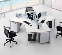Alloyfold Collaborate 120 Workstation.   The Collaborate range allows maximum flexibility while saving on space and cost. Collaborate offers a full range of desking, from single corner units, to 90 and 120 degree pod systems, all with a comprehensive array of accessories.