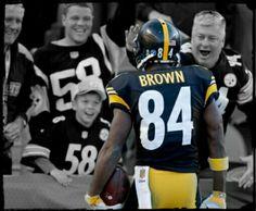 Antonio Brown Steelers receiver (RTA Arts/Getty)