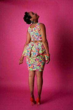 The Garden Party Skirt ~African fashion, Ankara, kitenge, African women dresses African Dresses For Women, African Print Dresses, African Attire, African Wear, African Fashion Dresses, African Women, African Prints, Ghanaian Fashion, African Style