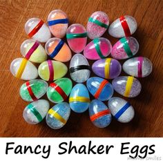 These egg shakers are easy to make - and kids love them! How many different things can you come up with to fill them with?