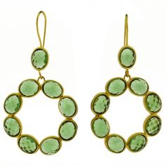 Maria Earrings Emerald Green
