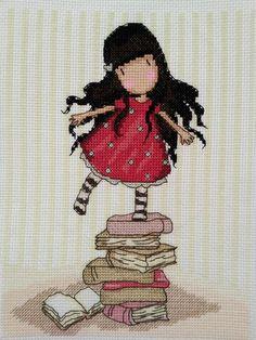 Волшебство вышивки в работах шотландки Suzanne Woolcott: милая девочка Gorjuss - Ярмарка Мастеров - ручная работа, handmade