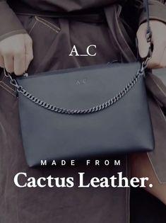 Leather Bags, Leather Handbags, Diy Fashion, Fashion Beauty, Cactus, Linen Tshirts, Vegan Makeup, Black Lingerie, Suitcases