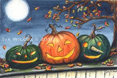 Halloween grins by Iva Wilcox
