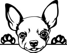 dog learning,dog tips,dog care,teach your dog,dog training Chihuahua Drawing, Chihuahua Art, Chihuahua Tattoo, Dog Outline, 3d Templates, Dog Silhouette, Puppy Breeds, Dog Art, Dogs And Puppies