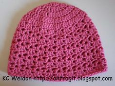 Oh Frog It!: Free Crochet Pattern - Hadley Lace Hat...I will be doing these for my girls most definitely! :-)