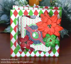 mini album or gift card holder ? #CanvasCorp #Sizzix #Christmas #card