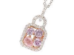 Pink Diamond Pendant Necklace - The Three Graces