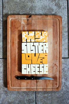 "#cheese #font | ""Play"" – Experimental Typography Of Unconventional Materials and Techniques 