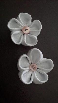 DIY kanzashi flowers