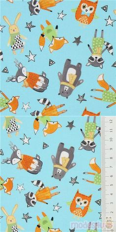 "light blue fabric with tossed foxes, bears, rabbits, etc., wearing sweaters and scarves, Material: 100% cotton, Fabric Type: smooth cotton fabric, Fabric Width: 112cm (44"") #Cotton #Animals #AnimalPrint #Christmas #Owls #Bears #Pandas #Foxes #OtherAnimals #Insects #USAFabrics Christmas Owls, Christmas Fabric, Blue Fabric, Cotton Fabric, Robert Kaufman, Light Blue, Snoopy, Clip Art"