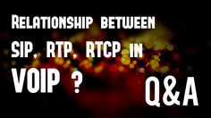 Q&A - Relationship between SIP, RTP, RTCP protocol packets in VoIP ?
