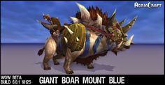 Warlords of Draenor Mounts - Draenor Boar