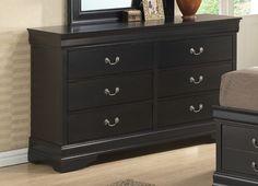 Louis Philippe 6 Drawer Dresser