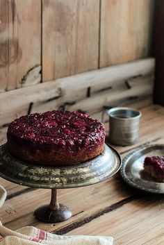 Cranberry Upside Down Cake | Pastry Affair