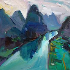 "I haven't been to mainland #China yet... but I imagine it looks something like this ""Bend in the Yangtze River"". . #designerart #artist #Yangtze #River #artgallery #artcollector"