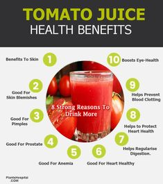 Tomato juice is considered one of the best superfoods because of contains plenty of vitamins and minerals. Vitamin A, vitamin K, and Tomato Benefits, Health Benefits Of Tomatoes, Juicing Benefits, Vegetable Benefits, Fruit Benefits, Juicing For Health, Health Diet, Glowing Skin Juice
