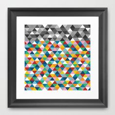#triangles #rainbow #colors #black #white #grey #projectm