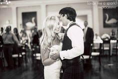 bride and groom, romantic, black and white photography, dancing together, first dance, reception photos, wedding reception, swan house wedding, wedding photographer :: Kelsey + Ian's Wedding at the Swan House in the Atlanta History Center :: with Nikki