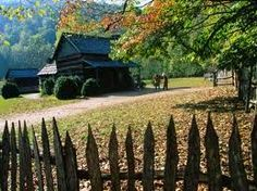 Go back in time to Cades Cove, Tennessee! Nestled in the Great Smoky Mtns National Park, the town people were forced to move after the Park was established over 100 years ago. The log cabin homes, the church and school house are still preserved for park goers to enjoy!