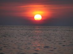 Solar Flare Sunset going down