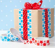 wrapping with decorative tape