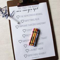wedding activity for children