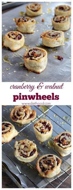 These Cranberry and Walnut Pinwheels are my most asked for and loved Christmas cookie-dessert! These easy cookies are fun to make and eat! Cookie Desserts, Just Desserts, Delicious Desserts, Yummy Food, Cranberry Recipes, Fall Recipes, Holiday Recipes, Cranberry Dessert, Samosas