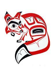 Haida Art version of the Fox - Glen Rabena, Northwest Coast Native Artist. This'll go on my right bicep Haida Kunst, Arte Haida, Haida Art, Arte Tribal, Tribal Art, Arte Inuit, Inuit Art, Haida Tattoo, Fox Tattoo