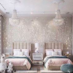 Home Decor/Interior design ( Kids Bedroom Designs, Home Room Design, Kids Room Design, Living Room Designs, Home Bedroom, Bedroom Decor, Luxury Kids Bedroom, Twin Girl Bedrooms, Baby Room Decor