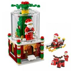 2019 New Christmas Creator Sets Santa Claus Snow House Scene With Legoinglys Model Building Blocks Bricks Toys Gift No Box Lego Christmas Gifts, Lego Christmas Ornaments, Holiday Gifts, Xmas, Lego Clones, Lego City Police, Lego Creations, Candyland, Lego Sets
