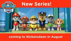 Have you met the PAW Patrol? NEW series coming to Nickelodeon this August!  Watch the trailer!