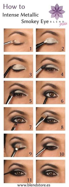 Sexy Eye Makeup Tutorials - Intense Metallic Smokey Eye - Easy Guides on How To Do Smokey Looks and Look like one of the Linda Hallberg Bombshells - Sexy Looks for Brown, Blue, Hazel and Green Eyes - Dramatic Looks For Blondes and Brunettes - thegoddess.com/sexy-eye-makeup-tutorials