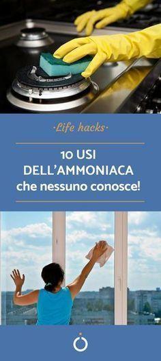 10 Verwendungen von Ammoniak - Pulire casa - HoMe Ideas Para Organizar, Sr1, Desperate Housewives, Natural Cleaning Products, Home Hacks, Hacks Diy, Housewife, Tutorial, Healthy Tips