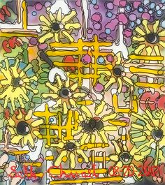 Seth Chwast - The Abstract of Garden with Sunflowers - 2012