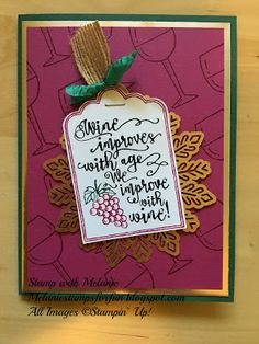 Hello Stampers! A really good friend celebrated her birthday a couple of weeks ago. Today I'm sharing the card I made for her. The set from the Holiday Catalog, Half Full, is perfect for celebrating birthdays and as well as many other memorable occasions!