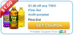 $1.00 off any TWO Pine-Sol multi-purpose cleaners USA Free Printable Coupon - Sept 10 2014 [ad]