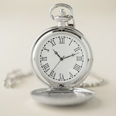 Roman Numerials Pocket Watch - diy cyo customize create your own personalize