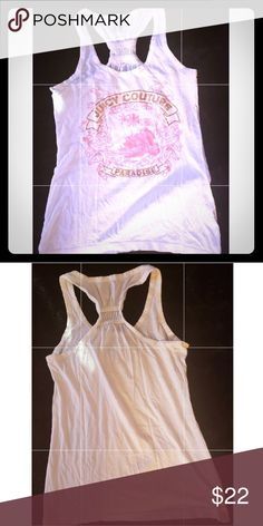 3482443e21889 Juicy Couture tank top Juicy Couture tank top that says juicy Couture in  gold with salmon