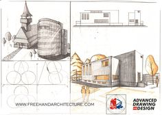 Freehand Architecture - Architectural Drawing and Design Layout, Architecture, Drawings, Design, Arquitetura, Page Layout, Sketches, Drawing, Draw
