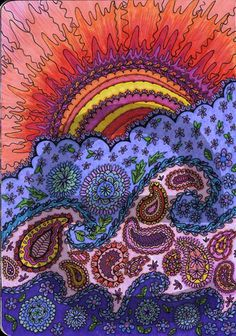 Oooo I really like this : suede journal 6 zentangle-inspired art #artjournaling