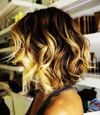 Curly Ombre Hair Extensions, Brown To Blonde.