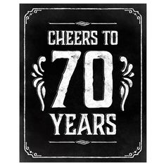 70h birthday decoration. Printable 70th birthday poster. 70th birthday ideas…