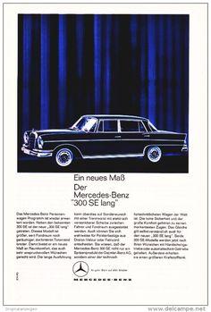 Original-Werbung/ Anzeige 1963 - MERCEDES BENZ 300SE LANG - ca. 160 x 240 mm