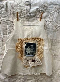 4 – Little White Dresses} Vintage Shabby Chic, Vintage Lace, Vintage Baby Dresses, Make Do And Mend, Art Friend, Baby Gown, Linens And Lace, Little White Dresses, Vintage Crafts