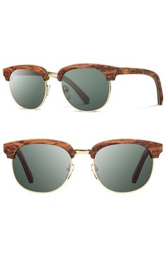 82b0d6eab67 Free shipping and returns on Shwood  Eugene  54mm Polarized Wood Sunglasses  at Nordstrom.