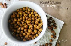 Roasted Chickpeas (two ways)