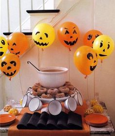 How excited would Miles be if he woke up on Halloween  to a bunch of jack-o-lantern balloons!!