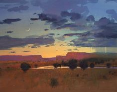 Rainstorm at Dusk by Tom Perkinson